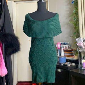 Emerald green Marciano sweater dress